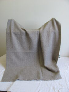 Grey wool cormo couch throw