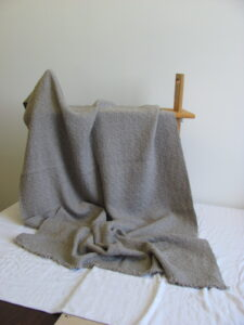 Grey Cormo couch throw extra long